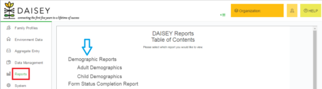 Accessing DAISEY reports